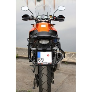 Pannier rack for Nomada PRO panniers with cut for Remus Hexacone exhaust (rear crashbars)